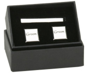 Pair of Cufflinks & Tie Pin Set - Groom
