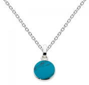 Dew Sterling Silver and Round Necklace
