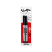 Sharpie Permanent Markers, Ultra Fine Point, Black, 4 Packs of 2-Pack