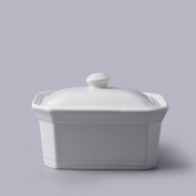 Butter Terrine Dish with Lid White Ceramic