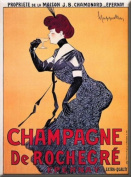 FRENCH VINTAGE METAL SIGN 20X15cm RETRO AD ROCHEGRE EPERNAY CHAMPAGNE