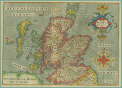 ANTIQUE MAP of SCOTLAND from 1637 250gsm Art Card Gloss A3 Reproduction Print