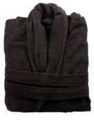 350 GSM Dark Brown 100% Cotton Terry Towelling Bathrobe + Matching Belt - Medium
