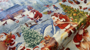 Christmas Winter Wonderland Wipe Clean Tablecloth by Karina Home 200cm x 137cm