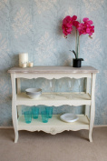 Charming Casamore Devon 2 Shelf Console Table with French Inspired Shabby Chic Feel