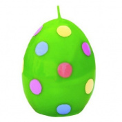 """Easter candle """"Dotted Egg - green"""" - H"""