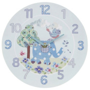 WALL CLOCK LITTLE BIRD AND ELLIE BLUE WALL CLOCK NEW BOXED