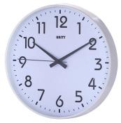Unity Fradley 30 cm 12-inch Silent Sweep Modern Wall Clock, White