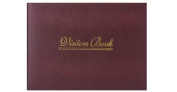 High Quality BURGUNDY Visitors Book - Case Bound ideal Hotel, Guest House, Home, Business