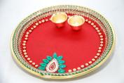 Diwali Pooja Thali/ Tray 19.5 cm