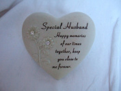 """""""Special Husband"""" Heart Shaped Memorial / Grave Plaque"""