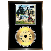 OASIS BE HERE NOW - SIGNED FRAMED GOLD VINYL RECORD CD & PHOTO DISPLAY