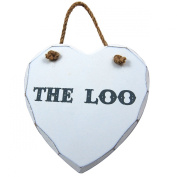 The Loo Wooden Heart Plaque