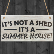 Red Ocean It's Not A Shed, It's A Summer House Novelty Garden Sign Wooden Plaque Gift