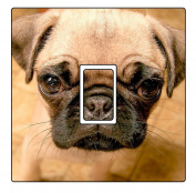 Pug Vinyl Light Switch Cover Sticker