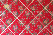 Extra Large 90x60cm Cath Kidston Red Folk Flowers Hand Crafted Fabric Notice / Pin / Memo / Memory Board