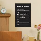 Self-adhesive Week Planner Blackboard Wall Sticker plus 1 Chalk 45 x 30cm
