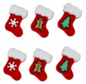 Christmas Stockings - Novelty Craft Buttons & Embellishments by Dress It Up