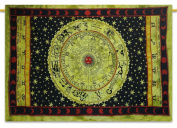 Zodiac Tapestry Cotton Twin Size Wall Hanging Decor Boho Hippie Tapestries 84...