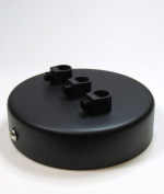 3 POINT MULTI DROP OUTLET CEILING ROSE | Midnight Black
