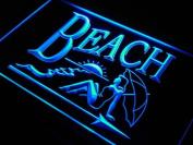 ADV PRO j934-b Beach Bar Club Beer Lady Sun Neon Light Sign