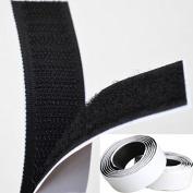 Black 1M Long x 20mm (2 Rolls) Strong Self Adhesive hook and loop Hook Loop Tape Fastener Sticky