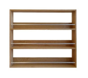 Solid Oak Spice Rack Three Tiers Up To 36 Jar Capacity