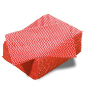 100 Large Ocean Wipes Strong Absorbant Anti-Bacterial Semi-Disposable Cleaning Cloths (Red) - Comes With TCH Anti-Bacterial Pen!