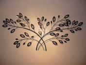 Metal Wall Art Double Laurel Branches