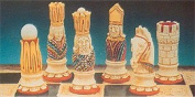 Make Your Own Chess Sets With These 9 x Victorian Chess set latex moulds