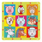 Bino Puzzle Halved Animal Heads