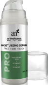 ArtNaturals Hyaluronic Acid Serum 100% Pure 30ml with Vitamins C and E For Face & Skin, Natural & Organic Ingredients, Green Tea, Aloe, Witch Hazel, Jojoba Extracts - Best Anti Ageing Cream Day & Night