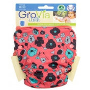 GroVia All in One Cloth Nappy - Snap - Poppy - One Size