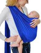Vlokup Adjustable Baby Water Ring Sling Baby Carrier Infant Wrap One Size Navy Blue