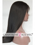 Chantiche Best Yaki Straight Lace Front Wigs Human Hair for Black Women Glueless Brazilian Remy Wigs with Baby Hair 130 Density 46cm