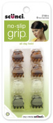 Scunci No-slip Grip Oval Top Jaw Clips, 1.5cm, - 4 Packs of 8 Count = 32 Count