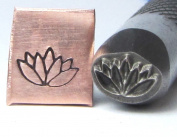 Flowering Lotus Design Stamp Professional Grade for Stainless 8 X 6mm