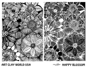 Art Clay World USA Low Relief Texture Shona Brooks Happy Blossom Design - 1 Pc.