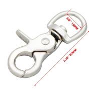 "Bluemoona 5 PCS - 5/8"" 15mm Metal Swivel Clips Eye Snap Hook Hardware Auto Close Trigger"