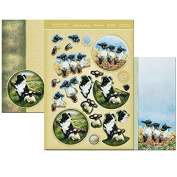 Hunkydory Spring is in the Air Spring Lambs and Keeping Watch Decoupage Kit Foil Card Making