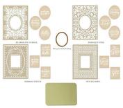 Anna Griffin® Mix & Match CuttlebugTM Ornate Frames Embossing Folders & Die & Mat