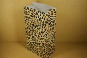10 Leopard Multi-purpose Paper Gift Bags 28cm X 15cm X 7.6cm - 1.3cm For Party, Crafts, Treats & Favours