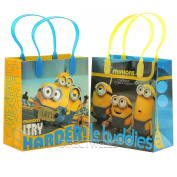 """Despicable Me Minions """"Le Buddies"""" Premium Quality Party Favour Goodie Small Gift Bags 12"""