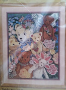 Something Special Counted Cross Stitch Kit Teddy Bear Collage 36cm x 46cm