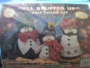 All Stuffed Up Felt Folks Kit 61103 Penguin Family