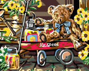 Greek Art Paintworks Paint Colour By Number Kits,Teddy Bear,41cm by 50cm