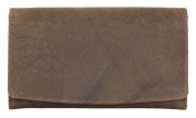 Women's Brown Natural Durable Genuine Leather Wallet