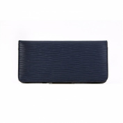 Women Leather Slim Long Wallet Useful Purse Bifold Card Case with Coin Wallet