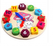 Wooden toy Digital Geometry Clock