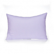Sweet Potato Fiona Sham Micro Dot Pillow, Small, Purple/White